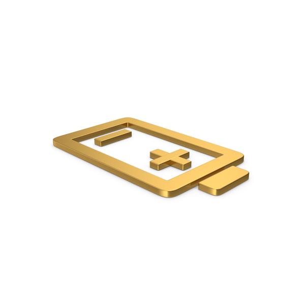 Logo: Gold Symbol Battery PNG & PSD Images