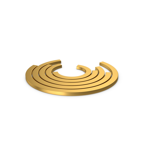 Pie: Gold Symbol Circular Chart PNG & PSD Images