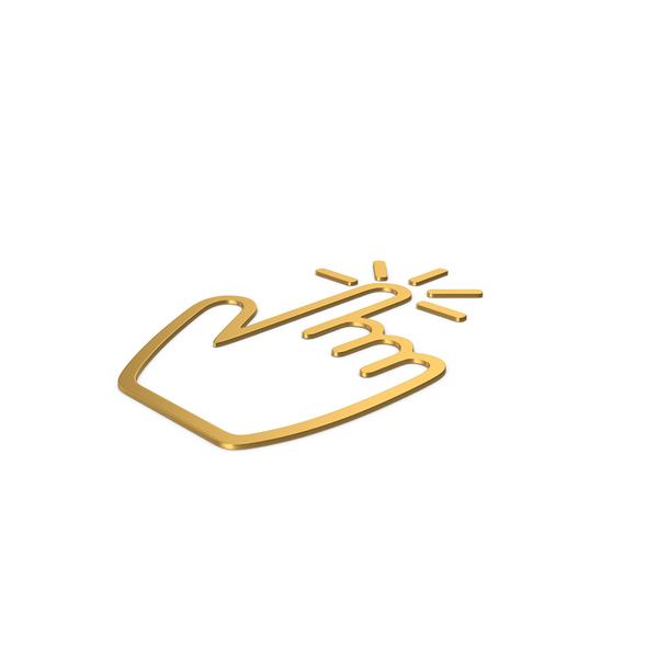 Cursor: Gold Symbol Click PNG & PSD Images