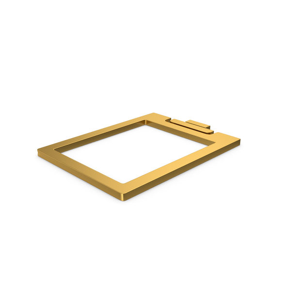 Gold Symbol Clipboard Clear PNG & PSD Images