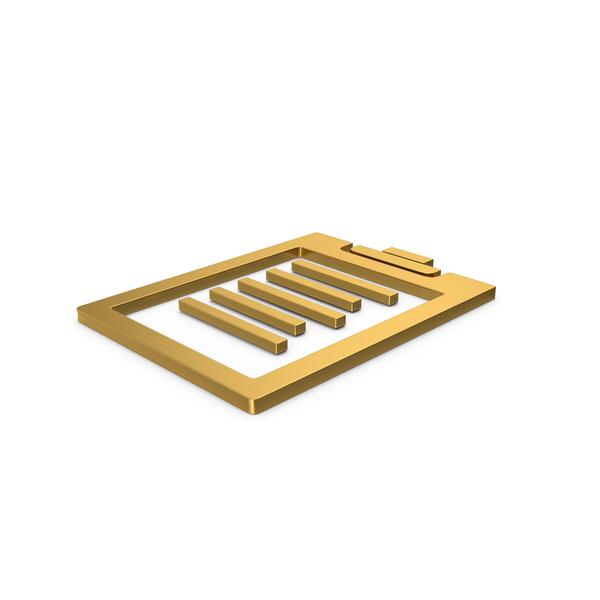 Logo: Gold Symbol Clipboard PNG & PSD Images