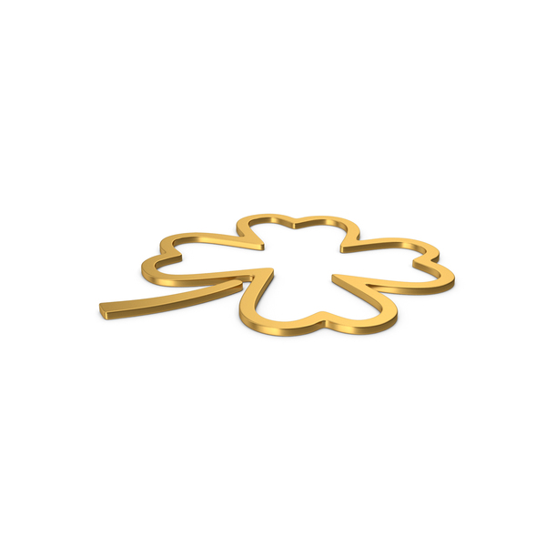Gold Symbol Clover PNG & PSD Images