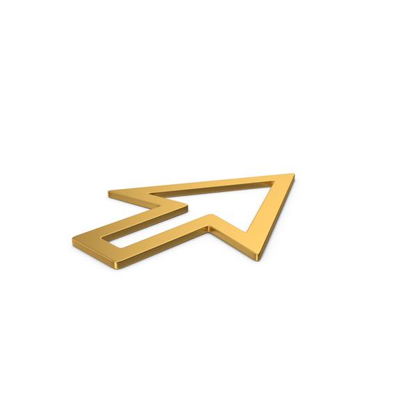 Industrial Equipment: Gold Symbol Cursor Arrow PNG & PSD Images