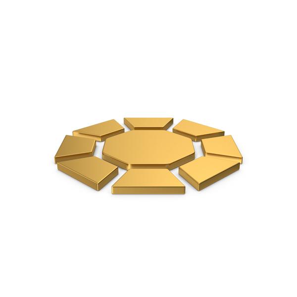 Logo: Gold Symbol Diamond / Octagon PNG & PSD Images