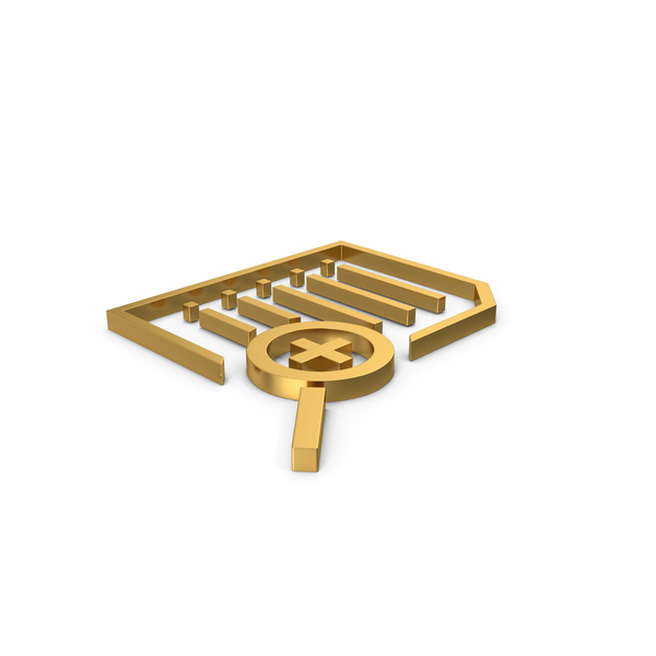 File Holder: Gold Symbol Document Zoom PNG & PSD Images