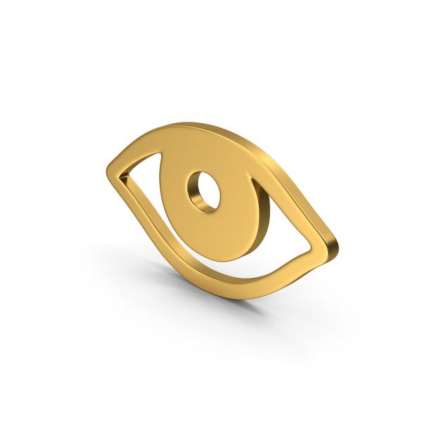 Gold Symbol Eye PNG & PSD Images