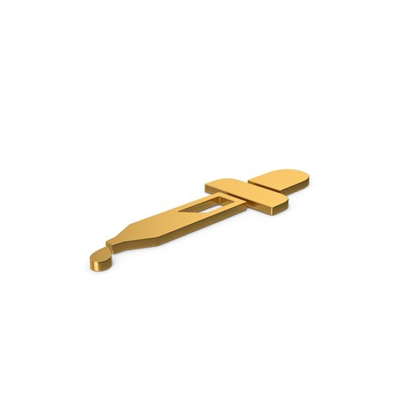 Gold Symbol Eyedropper PNG & PSD Images