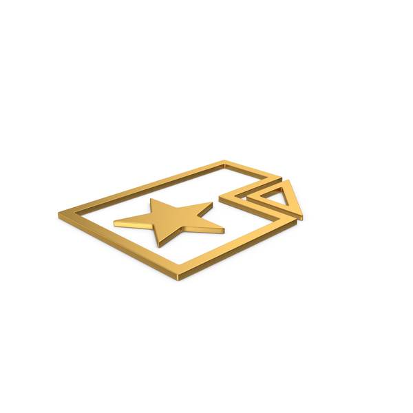 Computer Icon: Gold Symbol Favorite File PNG & PSD Images