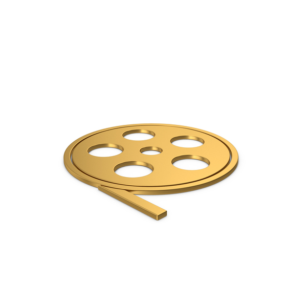 Reel: Gold Symbol Film Roll PNG & PSD Images