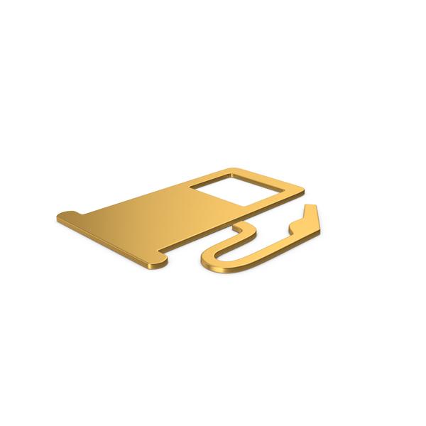 Retro Gas Pump: Gold Symbol Fuel Station PNG & PSD Images