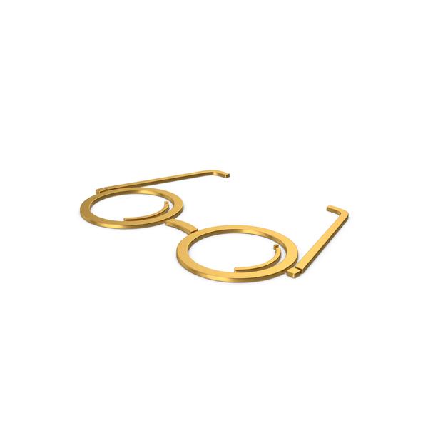 Logo: Gold Symbol Glasses PNG & PSD Images