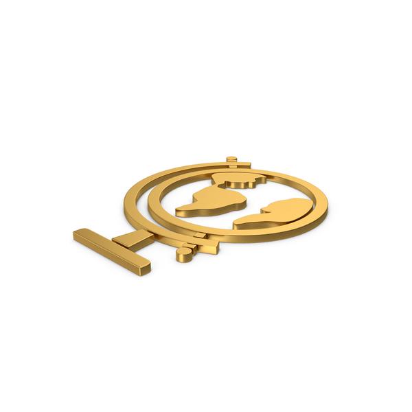 Logo: Gold Symbol Globe PNG & PSD Images