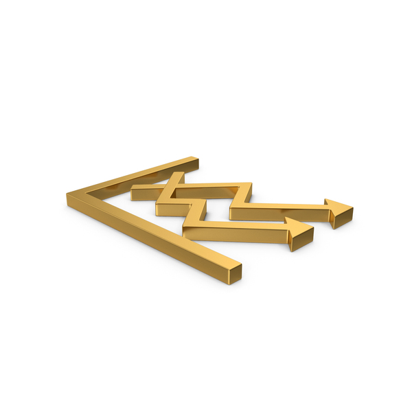 Pie: Gold Symbol Graph Chart Arrows PNG & PSD Images