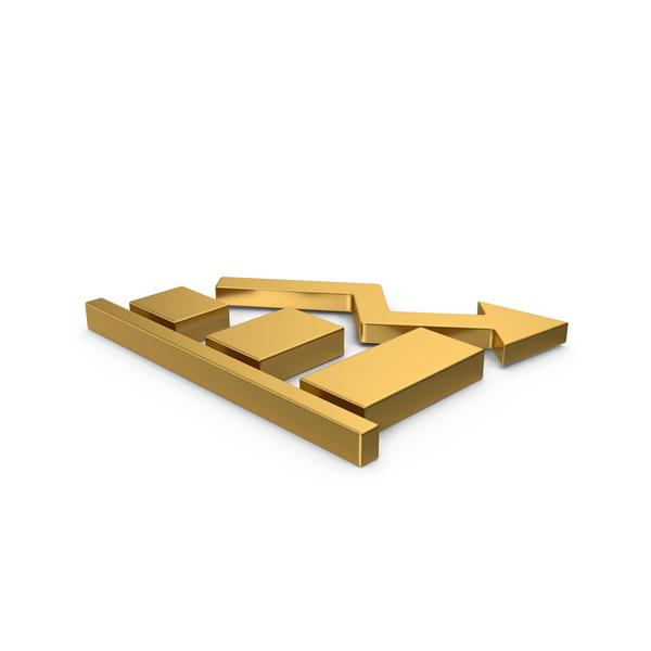 Line: Gold Symbol Graph Chart PNG & PSD Images