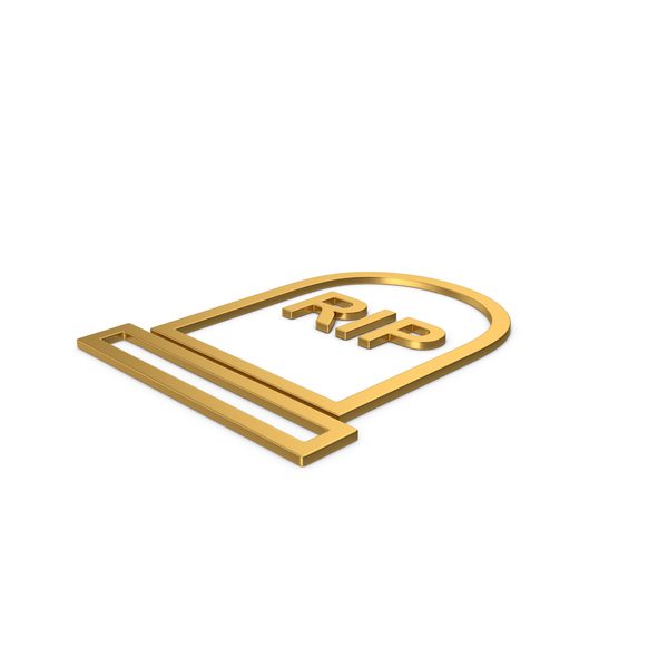 Cross: Gold Symbol Grave Rip PNG & PSD Images
