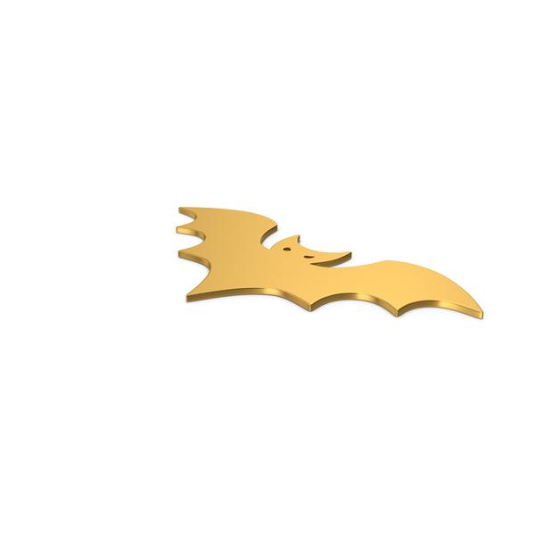 General Decor: Gold Symbol Halloween Bat PNG & PSD Images