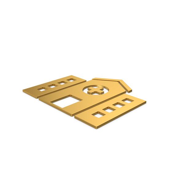 Symbols: Gold Symbol Hospital PNG & PSD Images