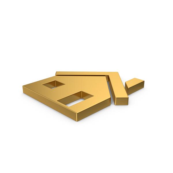 Symbols: Gold Symbol House PNG & PSD Images