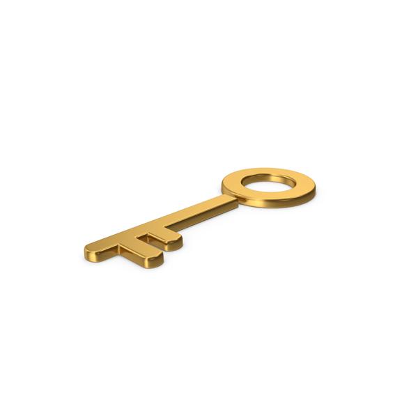 Gold Symbol Key PNG & PSD Images