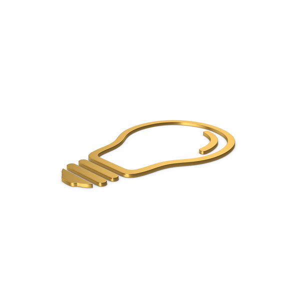 Logo: Gold Symbol Light Bulb PNG & PSD Images