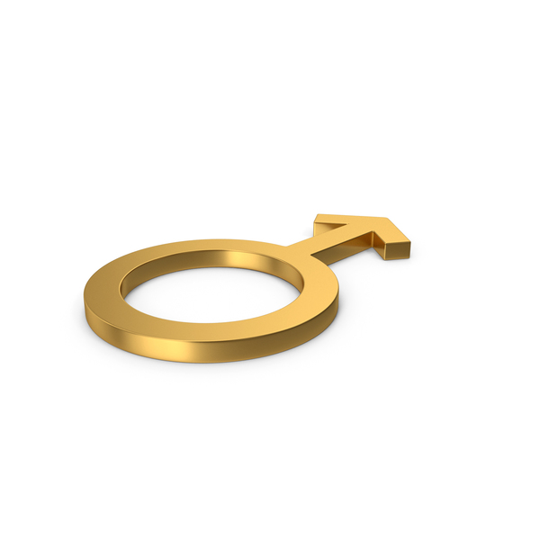 Gold Symbol Male PNG & PSD Images