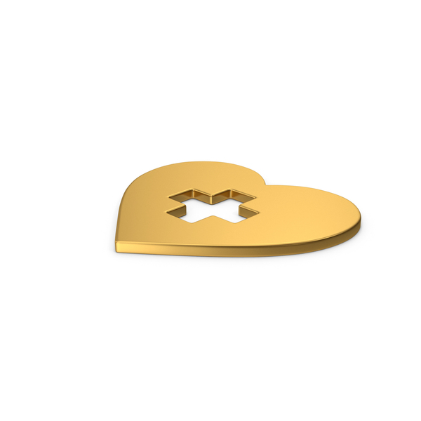 Heart Shaped Candy: Gold Symbol Medical Heart PNG & PSD Images