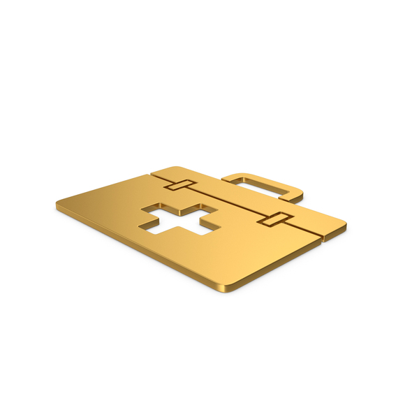 First Aid: Gold Symbol Medical Kit PNG & PSD Images