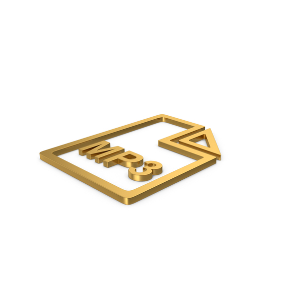 Computer Icon: Gold Symbol MP3 File PNG & PSD Images