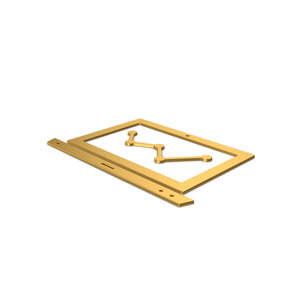 Industrial Equipment: Gold Symbol Notebook With Graph PNG & PSD Images