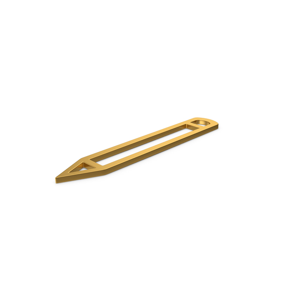 Computer Icon: Gold Symbol Pencil PNG & PSD Images