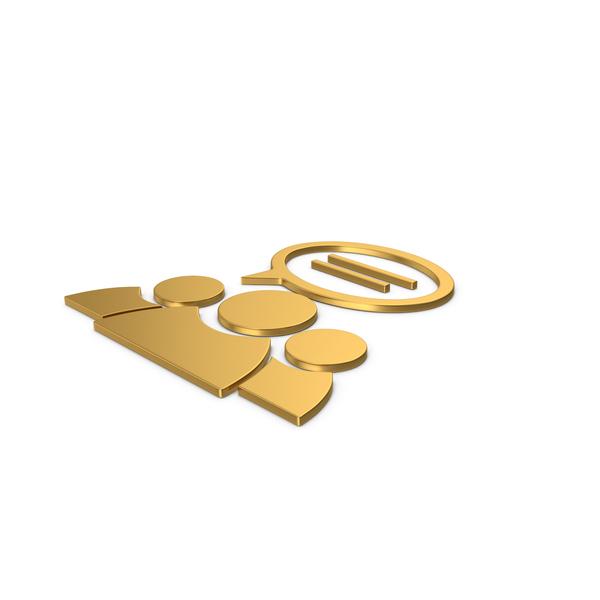 Logo: Gold Symbol People Talking PNG & PSD Images
