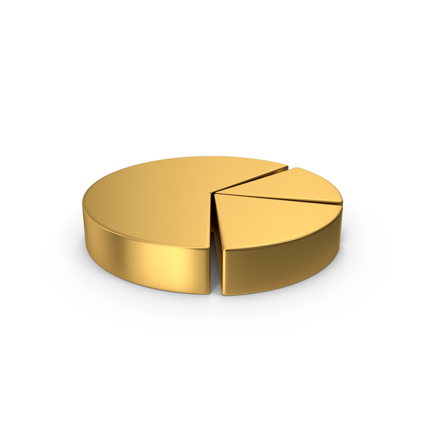 Gold Symbol Pie Chart PNG & PSD Images