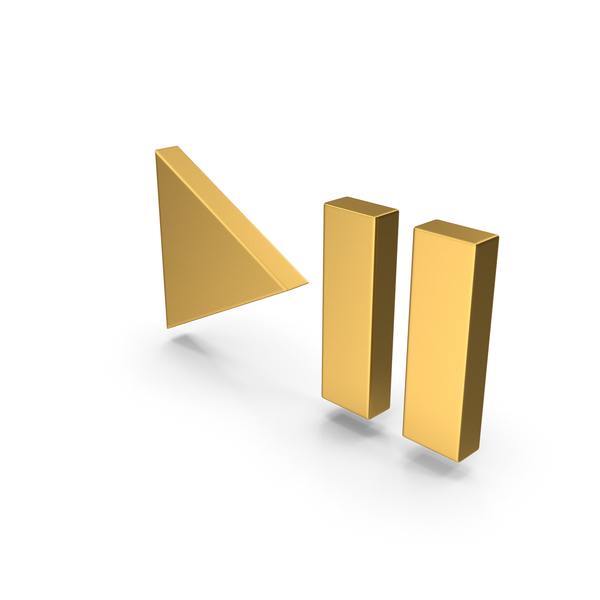 Pushbutton Switch: Gold Symbol Play Pause Button PNG & PSD Images