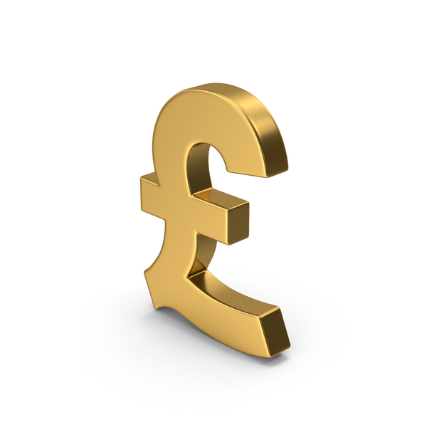 Gold Symbol Pound Sterling PNG & PSD Images