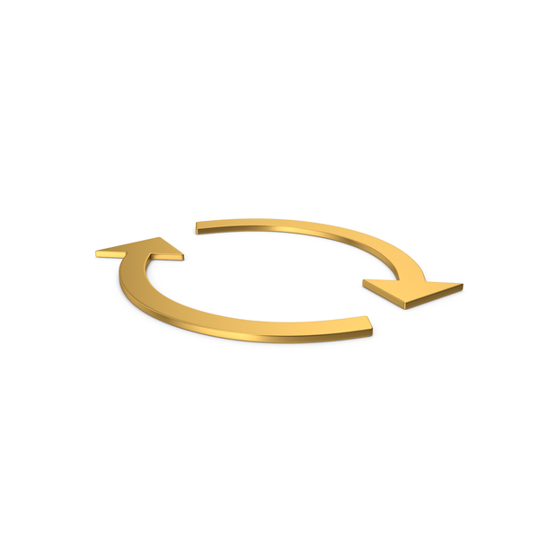 Directional Arrow: Gold Symbol Repeat PNG & PSD Images