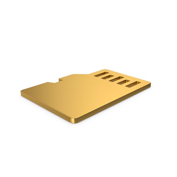 Symbols: Gold Symbol SD Card PNG & PSD Images