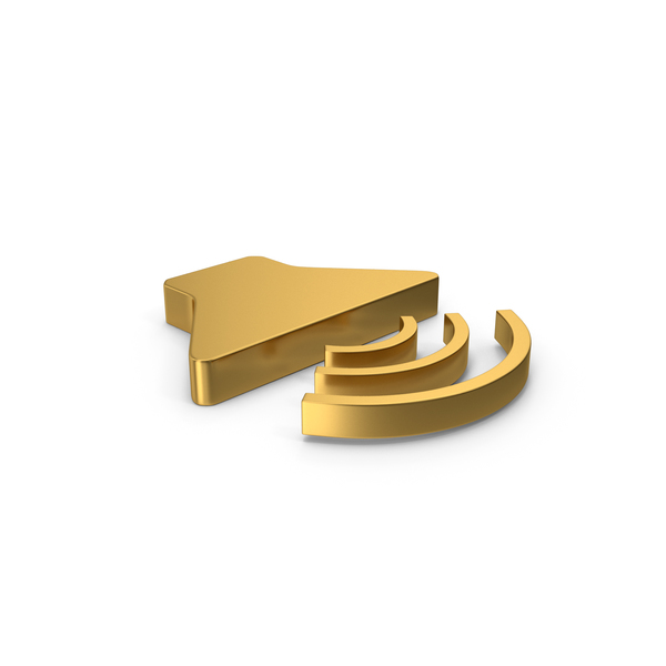 Computer Icon: Gold Symbol Sound PNG & PSD Images