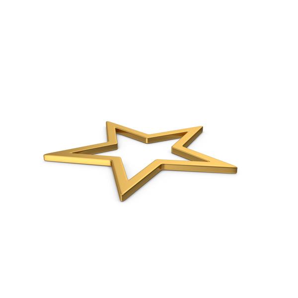 Gold Symbol Star PNG & PSD Images
