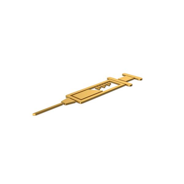 Gold Symbol Syringe PNG & PSD Images