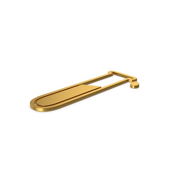 Gold Symbol Test Tube PNG & PSD Images