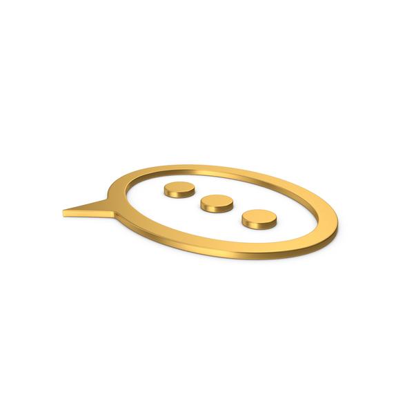 Symbols: Gold Symbol Texting PNG & PSD Images