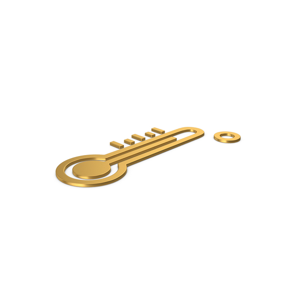 Symbols: Gold Symbol Thermometer PNG & PSD Images