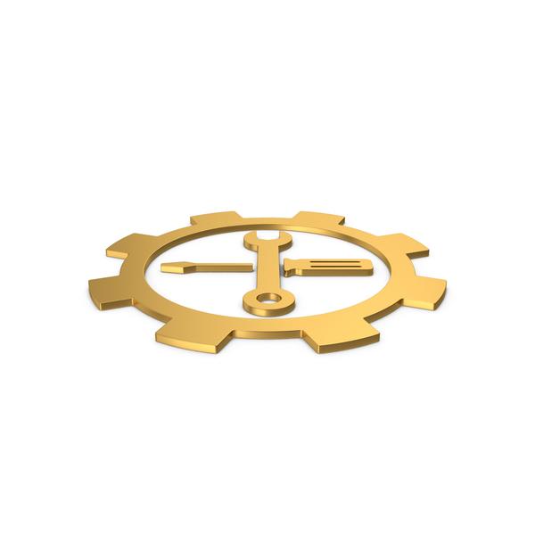 Logo: Gold Symbol Tools PNG & PSD Images