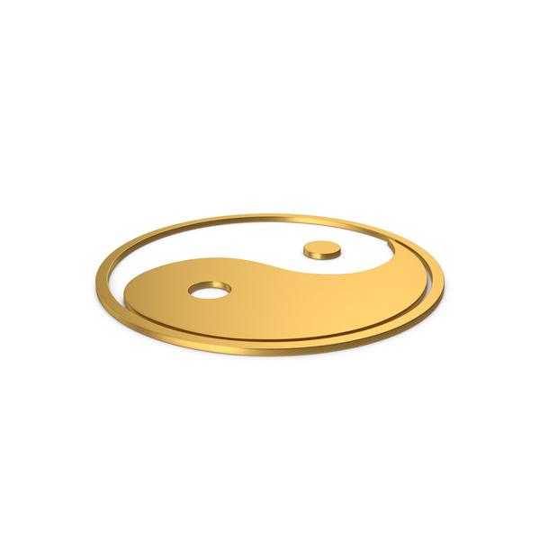 And: Gold Symbol Yin Yang PNG & PSD Images