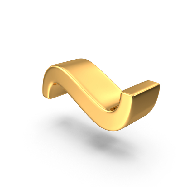 Language: Gold Tilde Symbol Object