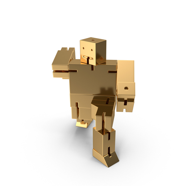 Gold Toy Robot PNG & PSD Images