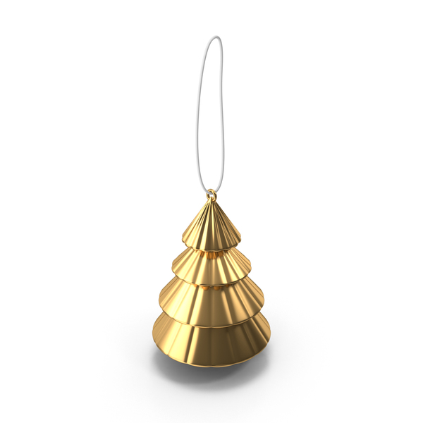 Gold Tree Ornament PNG & PSD Images