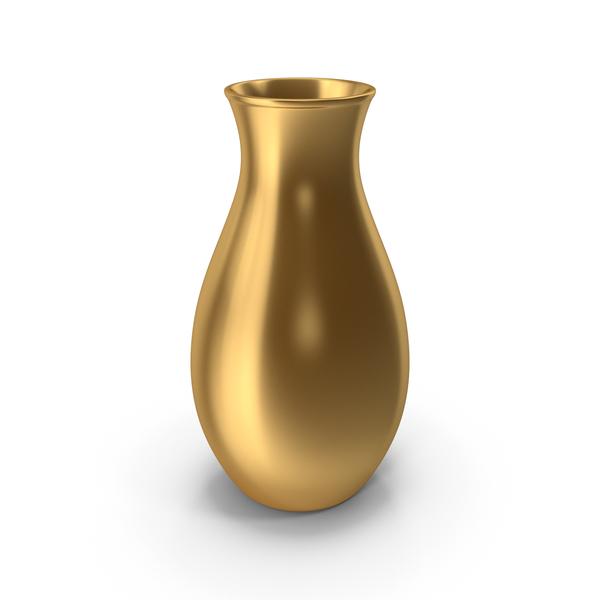 Modern: Gold Vase PNG & PSD Images