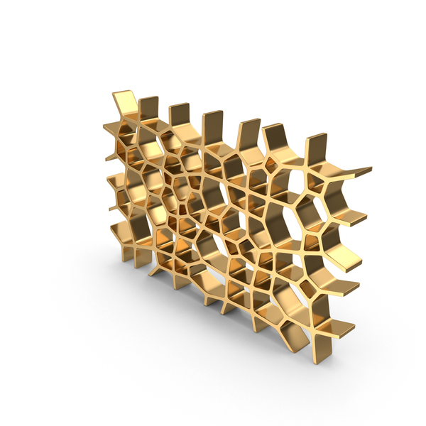 Gold Voronoi Wall PNG & PSD Images