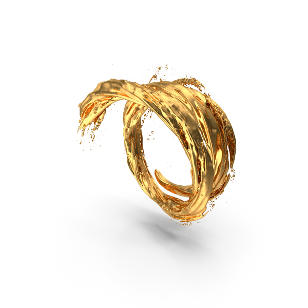 Gold Vortex Tunnel PNG & PSD Images